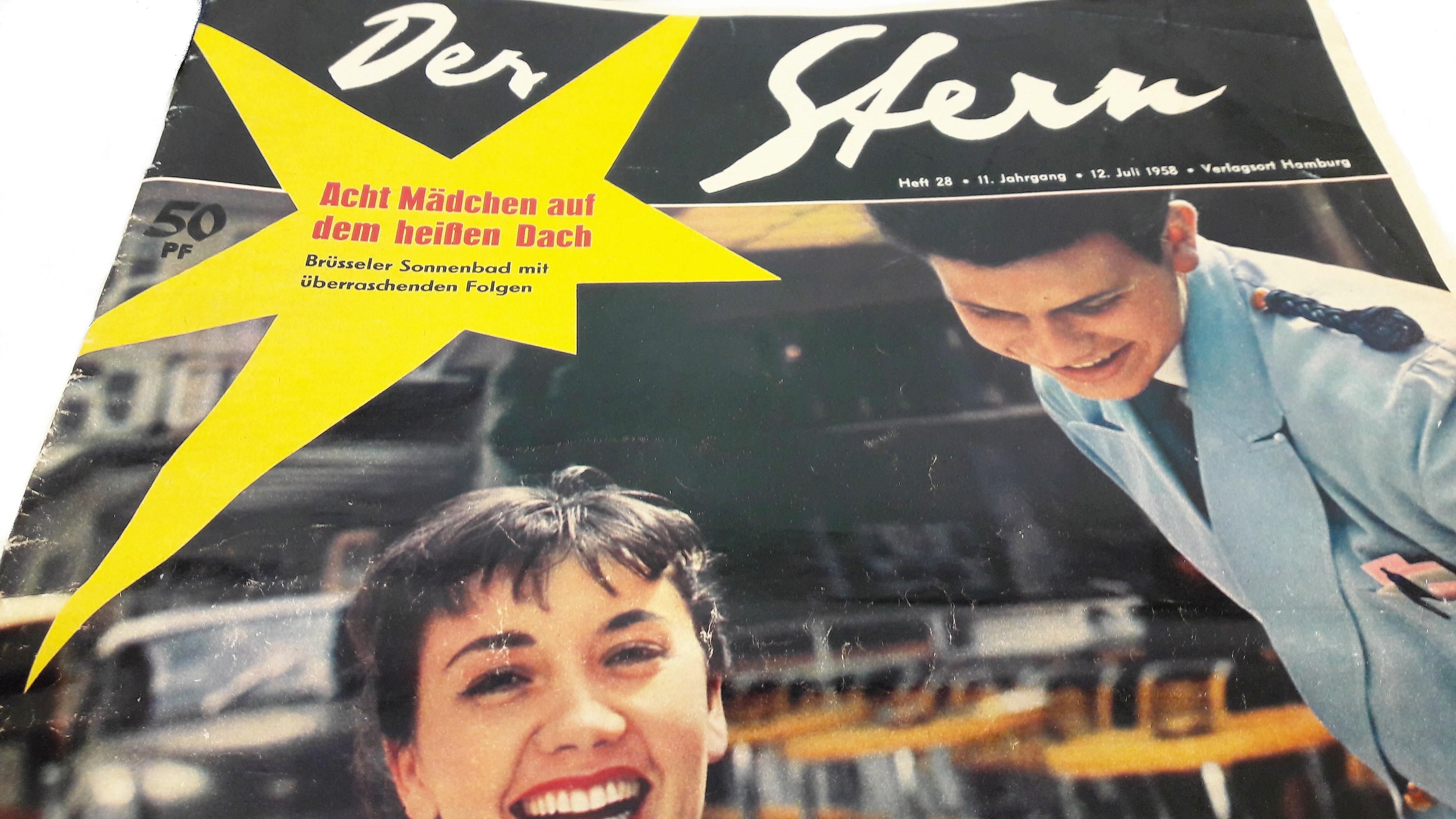 J1- Der Stern, 21 juillet 1958 - cover